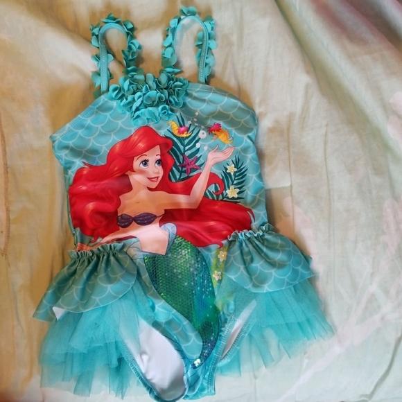 39adf80285980 Disney Other - 5 6 girls Ariel deluxe swimsuit